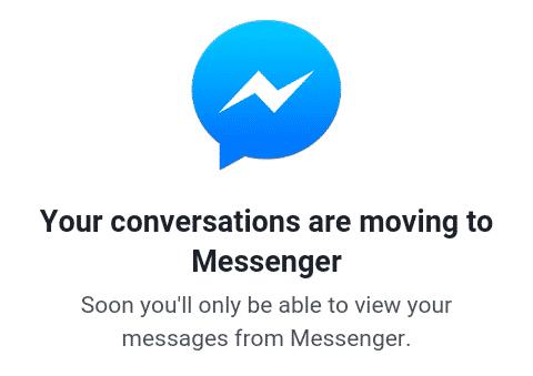 facebook to messenger IM app