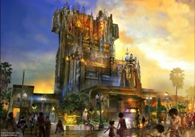 Guardians of the Galaxy - Mission: BREAKOUT! -- Debuting in summer 2017, Guardians of the Galaxy - Mission: BREAKOUT! will take Disney California Adventure park guests through the fortress-like museum of the mysterious Collector, who is keeping his newest acquisitions, the Guardians of the Galaxy, as prisoners. Guests will board a gantry lift which launches them into a daring adventure as they join Rocket Raccoon in an attempt to set free his fellow Guardians. The new attraction will transform the structure currently housing The Twilight Zone Tower of Terror(TM) into an epic new adventure. (Disneyland Resort) (PRNewsFoto/Disneyland Resort)
