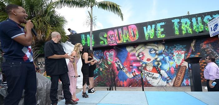 SUICIDE SQUAD Cast Visits Miami's Wynwood Art District 10
