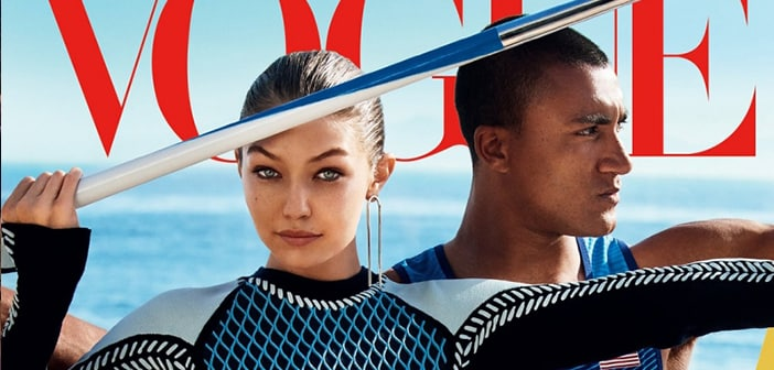 Gigi Hadid Makes Cover Feature For Vogue Magazine's Olympic Issue