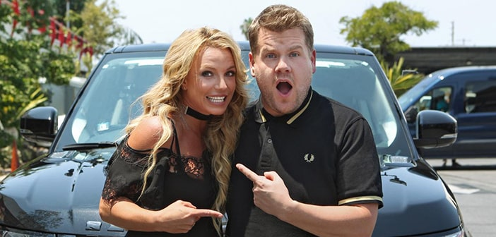 See This Sneak Peak James Corden's Carpool Karaoke Drive With Britney Spears
