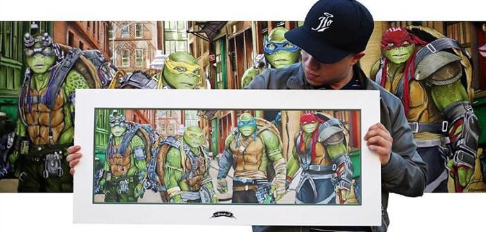 Latino artist Jiovanny Lopez draws the world-famous Teenage Mutant Ninja Turtles