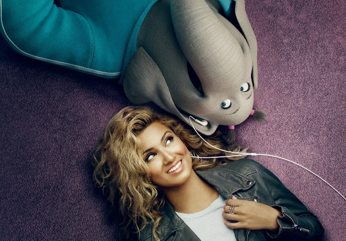 Tori Kelly as Meena, a timid teen with an enormous case of stage fright who keeps a powerhouse voice trapped inside.