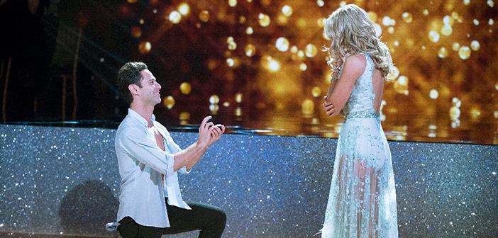 'DWTS' Got A Huge Surprise When Sasha Farber Got On One Knee & Proposed To Partner Emma Slater On Live TV