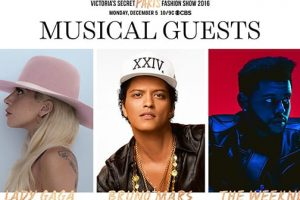 Lady Gaga, The Weeknd and Bruno Mars Confirmed To Perform At the 2016 Victoria's Secret Show