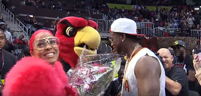 Rapper Gucci Mane Uses Kiss Cam To help him Propose To Girlfriend Keyshia Ka'oir 2