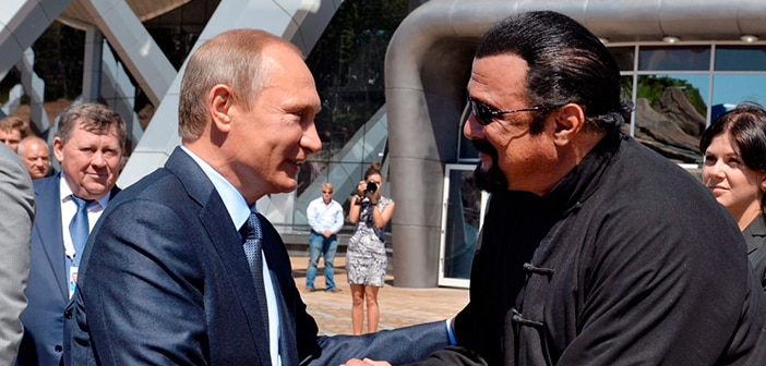 Steven Seagal Receives Citizenship In Russia By Russian President Vladimir Putin