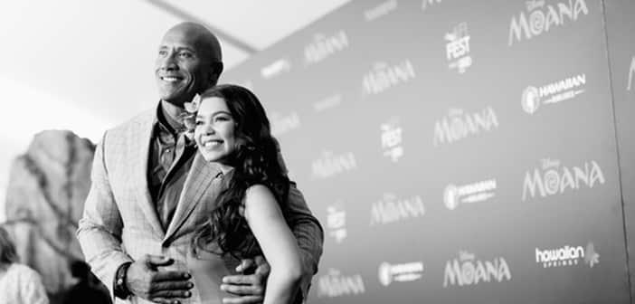 Disney's Moana - World Premiere Photos - Lin-Manuel Miranda/Dwayne Johnson/Dayanara Torres 1