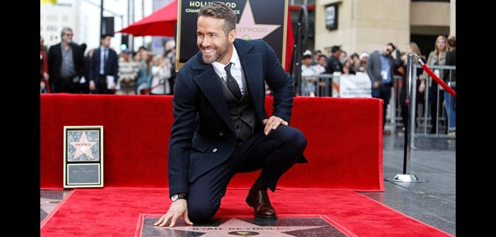 Ryan Reynolds Was Honored With A Star Hollywood's Walk of Fame