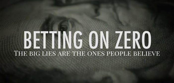 Herbalife Exposé Documentary BETTING ON ZERO Coming to Theaters March 10th