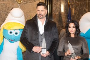 Demi Lovato & Joe Manganiello - Empire State Building Special Event for SMURFS: THE LOST VILLAGE 8