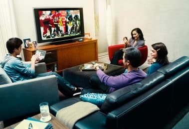 tv family watching