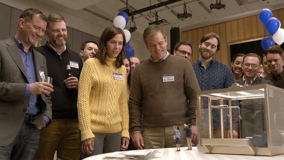 Downsizing featuring Alec Baldwin, Brigette Lundy-Paine, Christoph Waltz, Downsizing, Jason Sudeikis, Kristen Wiig, Maribeth Monroe, Matt Damon, and Neil Patrick Harris