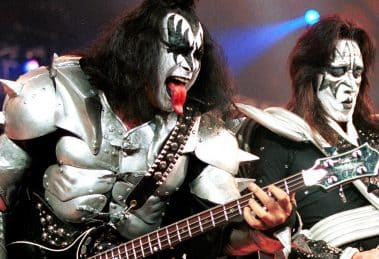 Kiss Memebers Gene Simmons and Ace Frehley