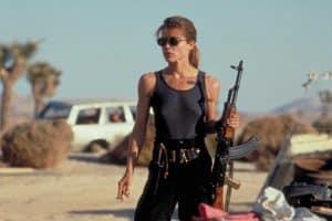 Sarah Connor played by Linda Hamilton