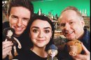 Eddie Redmayne, Maisie Williams and Timothy Spall